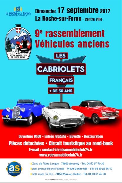 Rassemblement de vieilles voitures la roche sur foron et for Foire la roche sur foron 2017